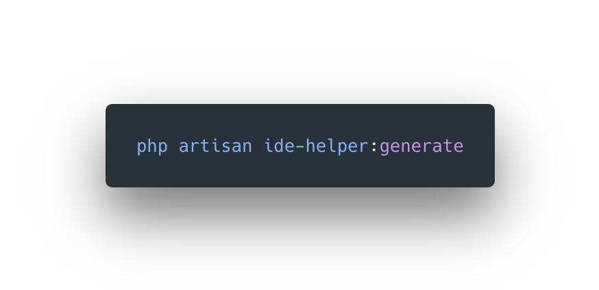 Laravel IDE Helper - Made with Laravel