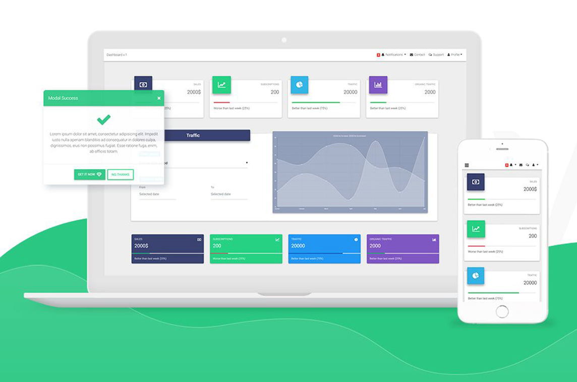 Material Design for Bootstrap - Made with Vue js