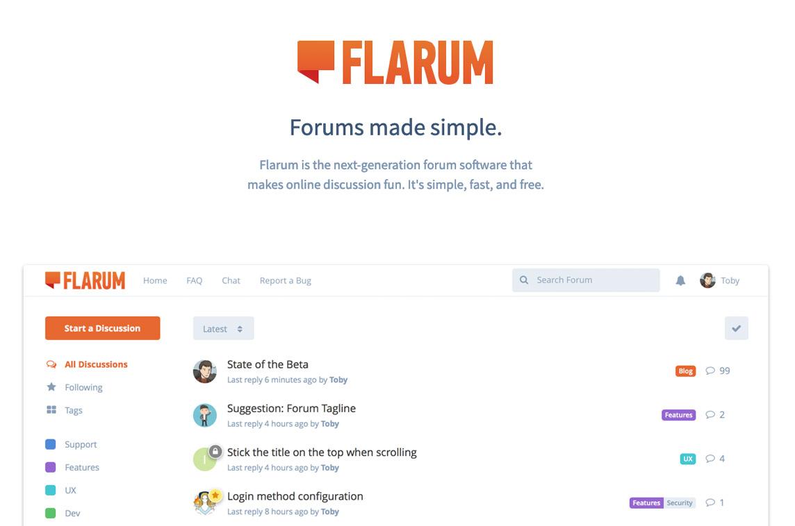 Flarum - Made with Laravel