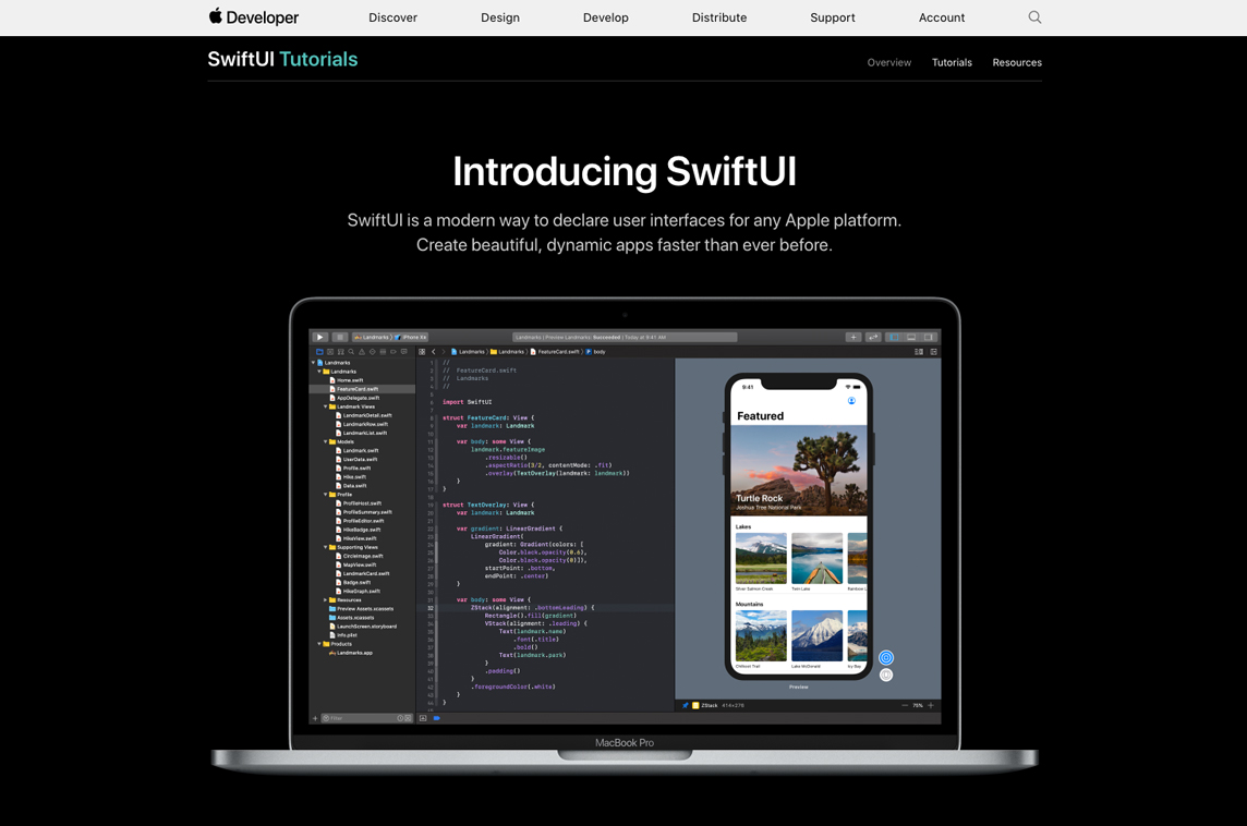 Apple SwiftUI Tutorials - Made with Vue js