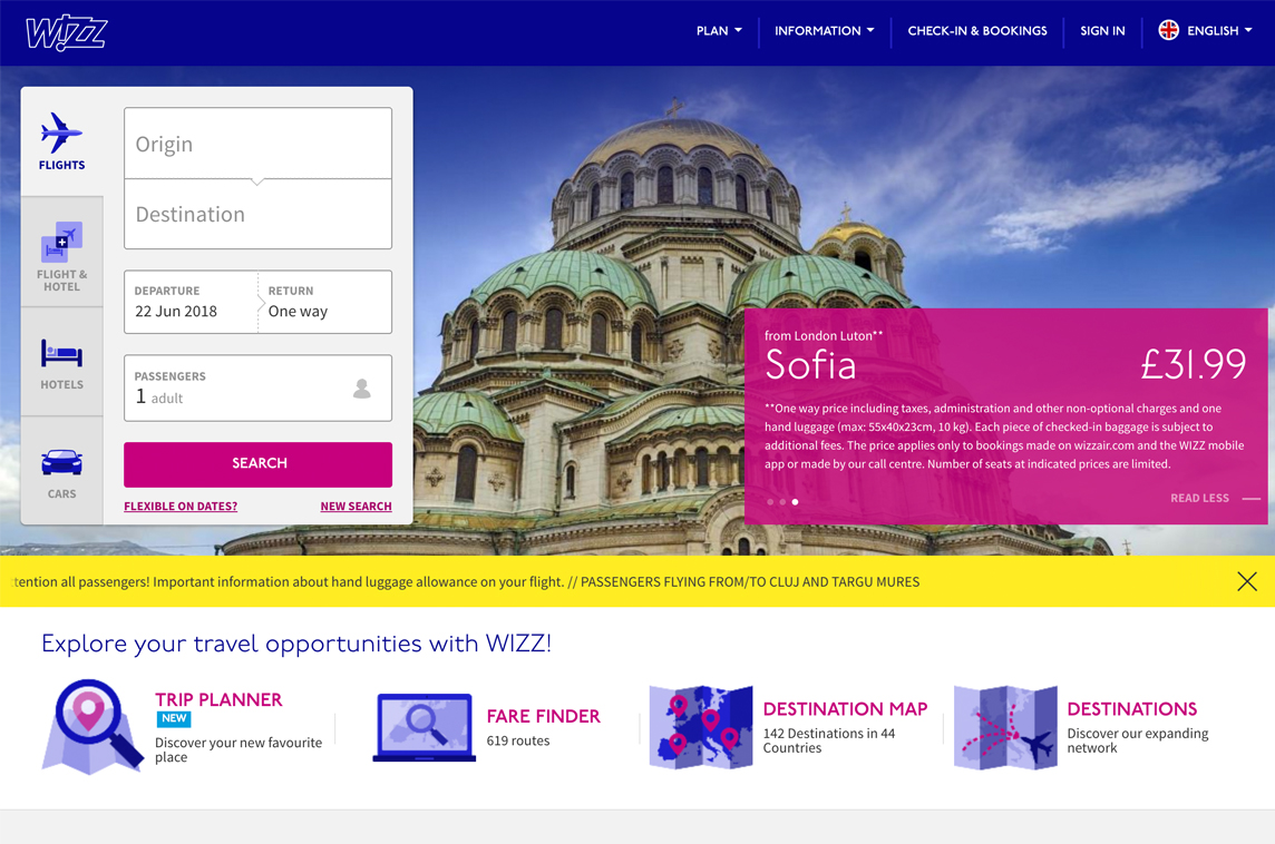 Wizz Air Made With Vue Js